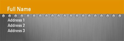 Metal and Orange Address Label Template